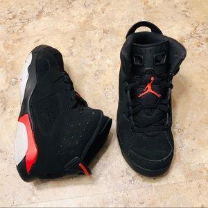 Nike Air Jordan Retro VI Black Infrared Kid's 13C